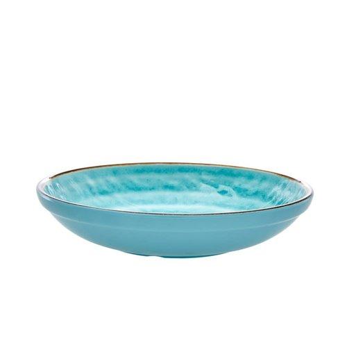 Rice Melamine diep bord Swirl Aqua