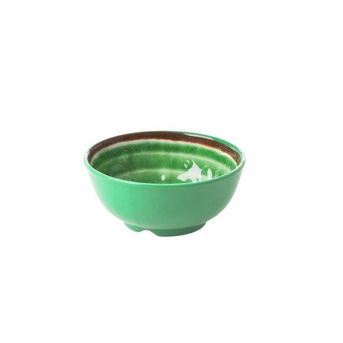 Rice Melamine kom S Swirl Green