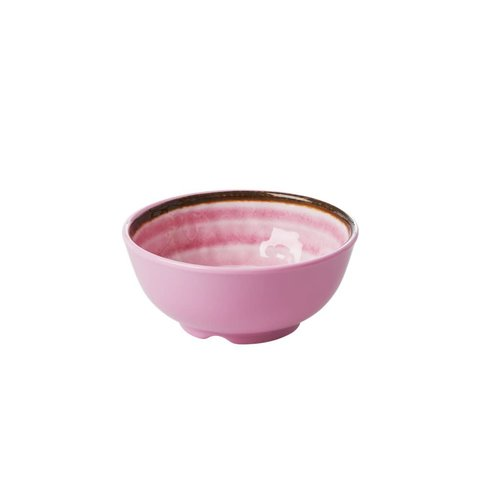 Rice Melamine kom S Swirl Pink