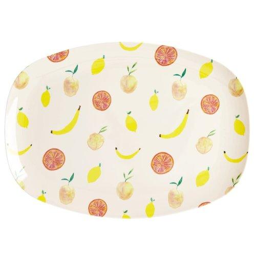 Rice Melamine ovaal bord Happy Fruits