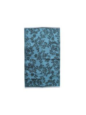 Rice Vloermat Flower S Dark Grey and Dusty Blue
