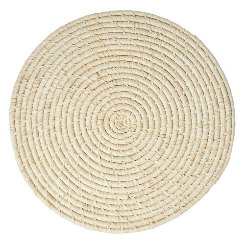 Rice Placemat Raffia rond Nature