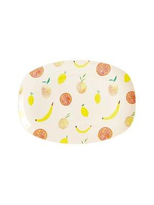 Rice Melamine ovaal bord small Happy Fruits