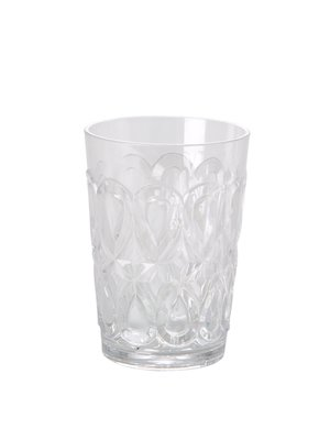 Rice Water glas tumbler acryl Swirly clear