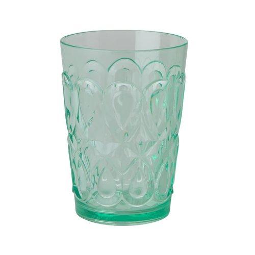 Rice Waterglas Swirly Pastel Groen