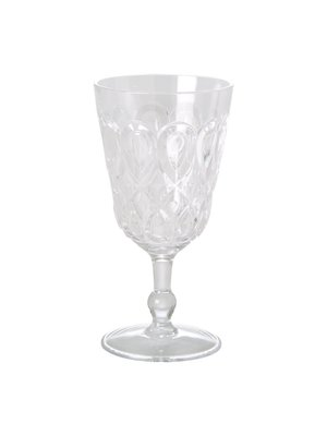 Rice Wijnglas acryl Swirly clear