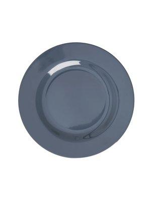 Rice Melamine lunch bord in Dark Grey
