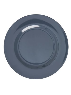 Rice Melamine diner bord Dark Grey