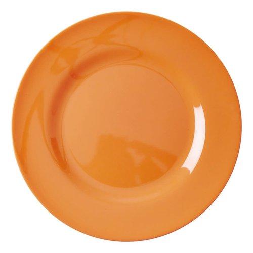 Rice Melamine diner bord Neon Orange