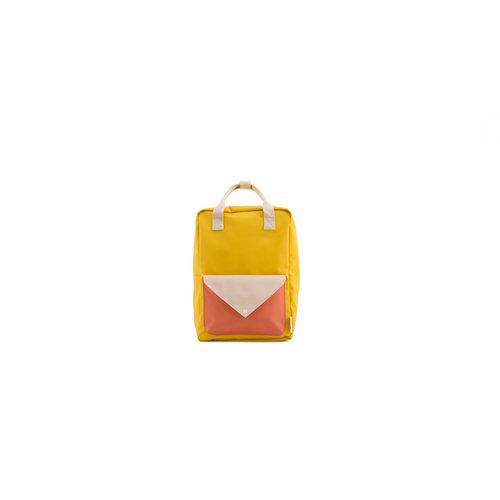 Sticky Lemon Rugzak Envelope L Warm yellow + soft pink + sporty red