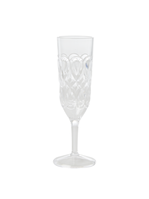 Rice Champagne glas acryl Swirly clear