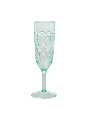 Rice Champagne glas Swirly pastel groen