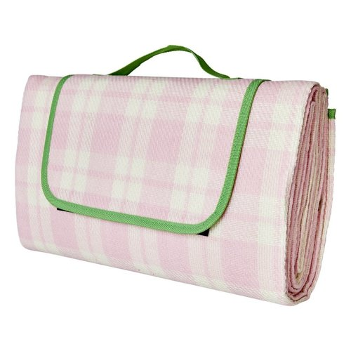 Rice Picknick deken Check Pink & Creme