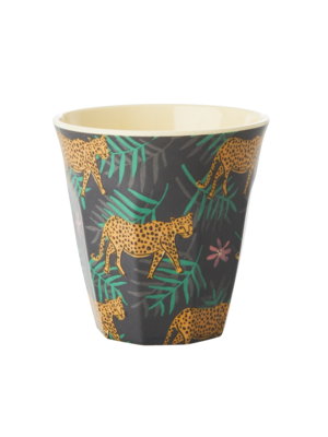 Rice Melamine beker Leopard & Leaves