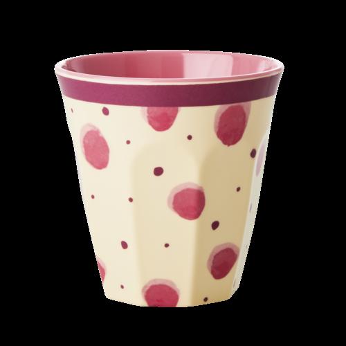 Rice Melamine beker Watercolor Splash roze