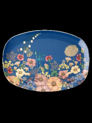 Rice Melamine ovaal bord Flower Collage