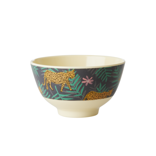 Rice Melamine kom small Leopard & Leaves