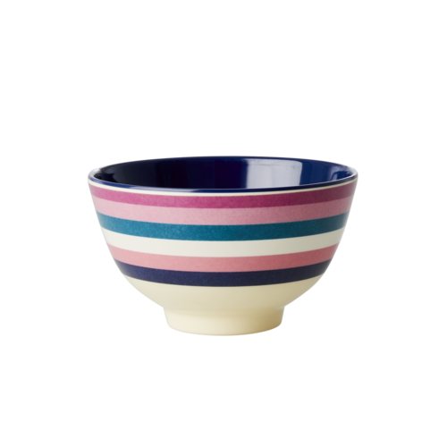 Rice Melamine kom small Stripe