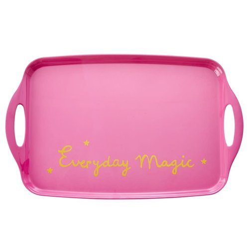 Rice Melamine Dienblad Roze met gouden tekst Everyday Magic
