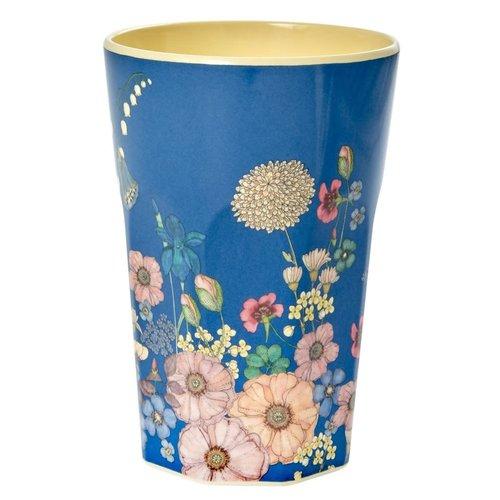 Rice Melamine Tall beker Flower Collage