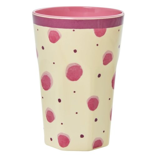 Rice Melamine Tall beker Watercolor Splash pink