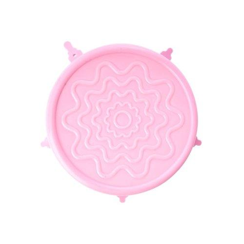 Rice Silicone Deksel voor Medium melamine kom Pastel Roze