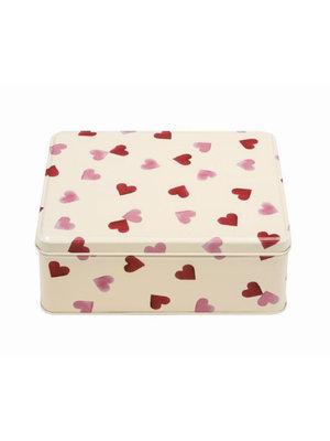 Emma Bridgewater Blik rechthoekig Pink Hearts