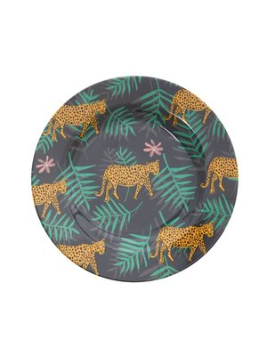 Rice Melamine lunch bord Leopard and Leaves