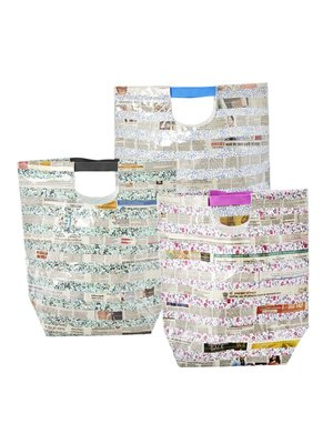 Rice Shopper Newspaper & Fabric Special project