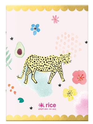 Rice Notitie boek A4 Wild Leopard rld - 40 vel