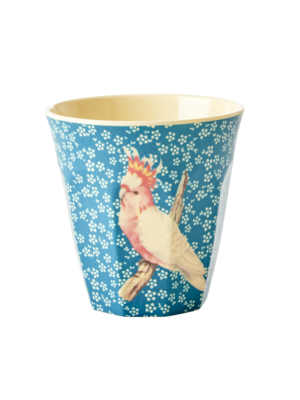 Rice Melamine beker Vintage Bird - blue