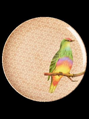 Rice Melamine diner bord Vintage Bird - nougat