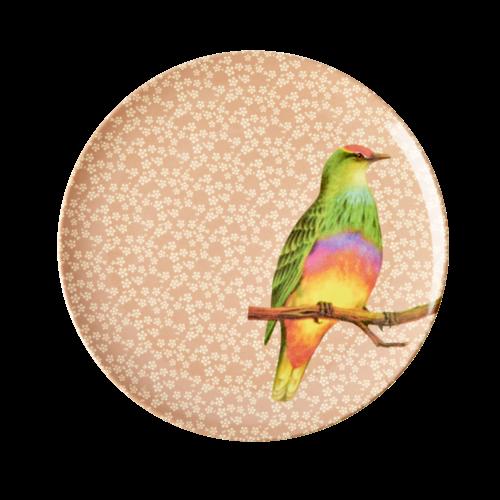 Rice Melamine lunch bord Vintage Bird - nougat