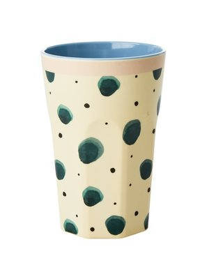 Rice Melamine Tall beker Watercolor Splash green
