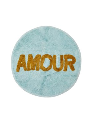 Rice Vloermat rond Mint - AMOUR