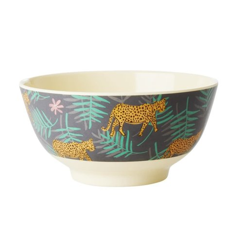 Rice Melamine kom Leopard and Leaves