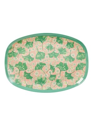 Rice Melamine ovaal bord Leaves Flowers