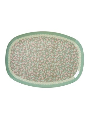 Rice Melamine ovaal bord Mini Floral