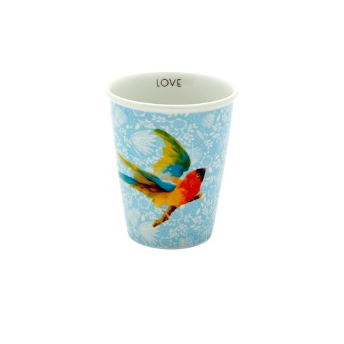 Rice Mok 225ml Blue Fern & Flower & Bird