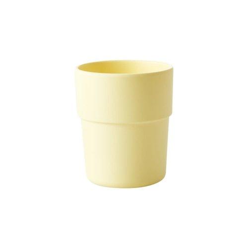 Rice Beker Natural Fibre pastel geel