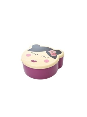 Rice Lunchbox set/4 Girl Face - plum