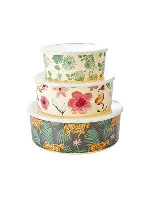 Rice Melamine Containers met deksel set/3 Selma's Flowers