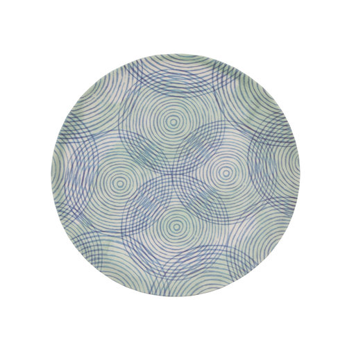 Urban Nature Culture Bamboe bord 20cm Colourful circles