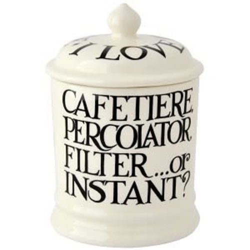Emma Bridgewater 1 pt Storage Jar Coffee Black Toast