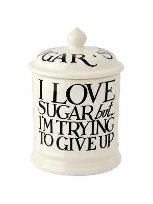 Emma Bridgewater 1 pt Storage Jar Sugar Black Toast