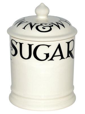 Emma Bridgewater 1 pt Storage Jar Sugar Black Toast old