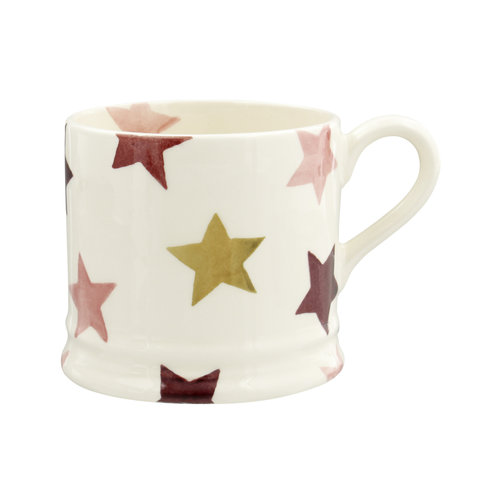 Emma Bridgewater Small Mug Pink & Gold Stars
