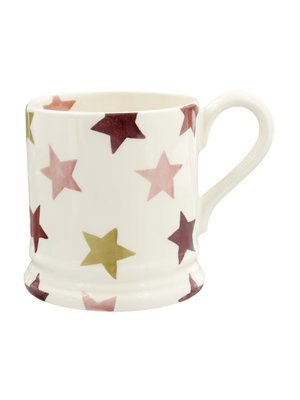 Emma Bridgewater 0.5 pt Mug Pink & Gold Stars