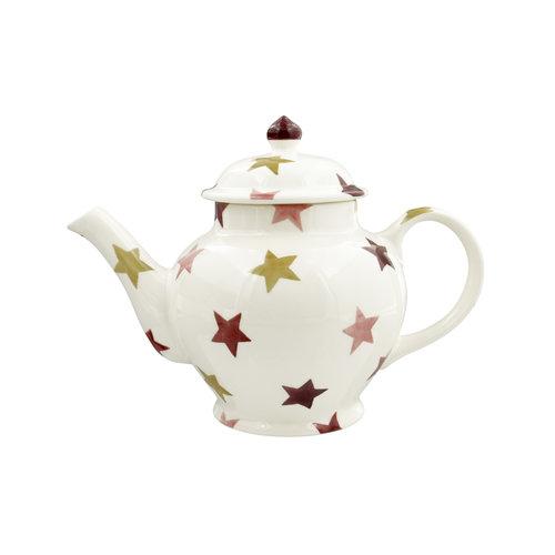 Emma Bridgewater 3 Mug Teapot Pink & Gold Stars