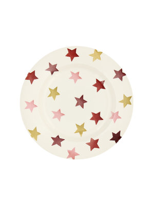 Emma Bridgewater 8.5 Plate Pink & Gold Stars